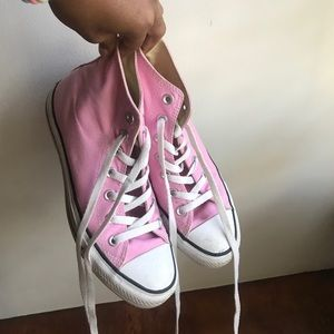 Pink High Top Converse Sneakers